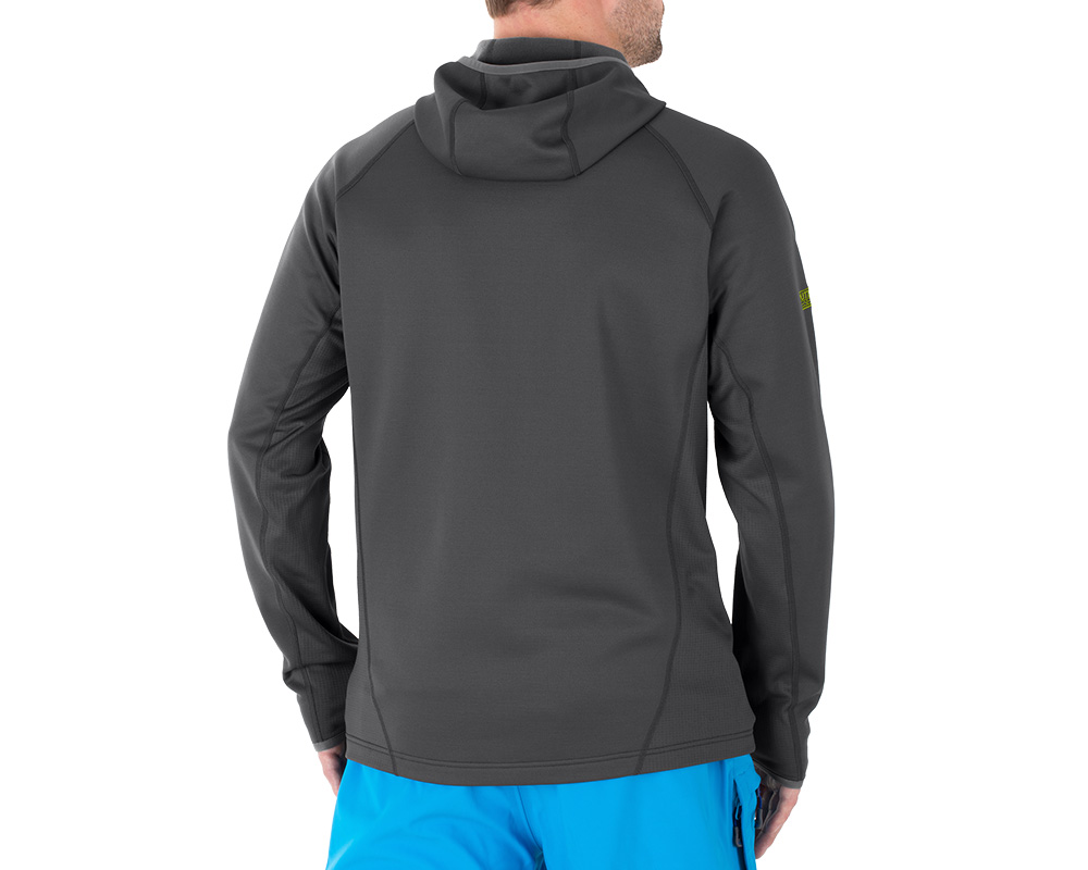 Гръб на поларено яке Outdoor Research Radiant Hybrid Hoody Charcoal