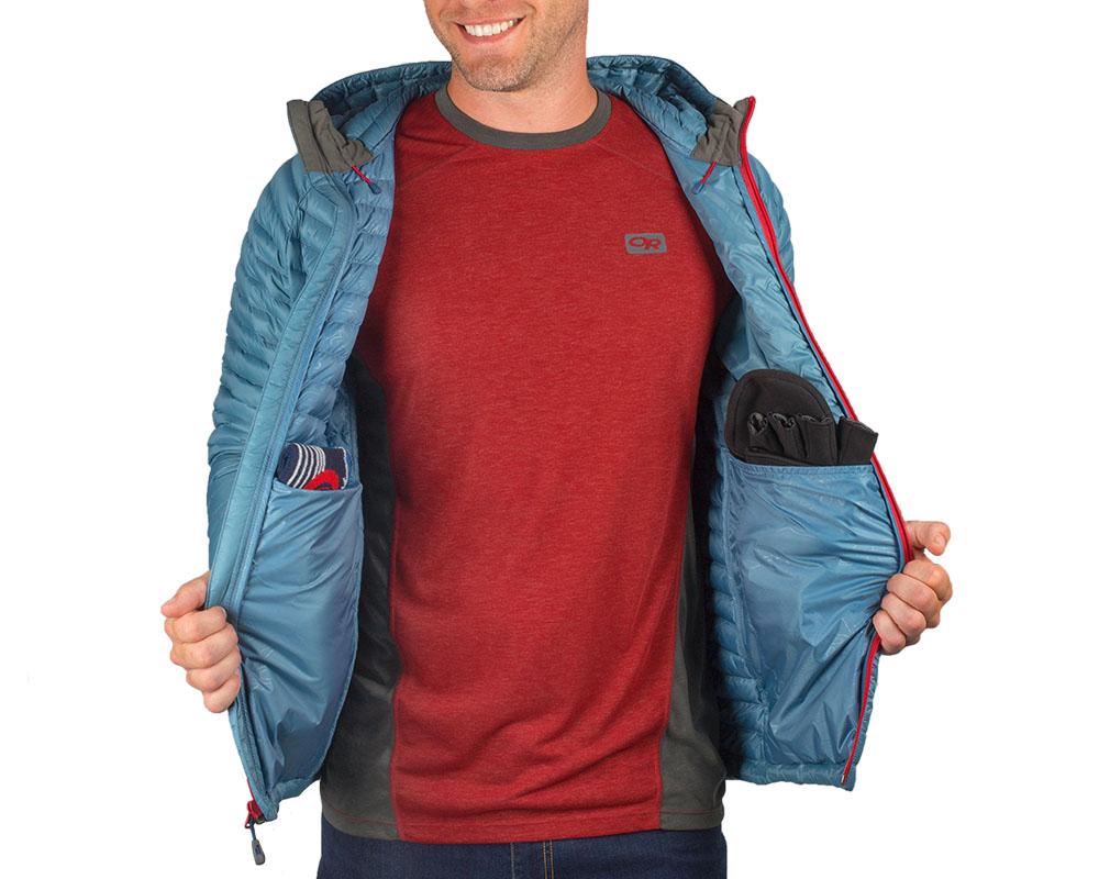 Вътрешни джобове на пухено яке Outdoor Research Verismo Hooded Down Jacket