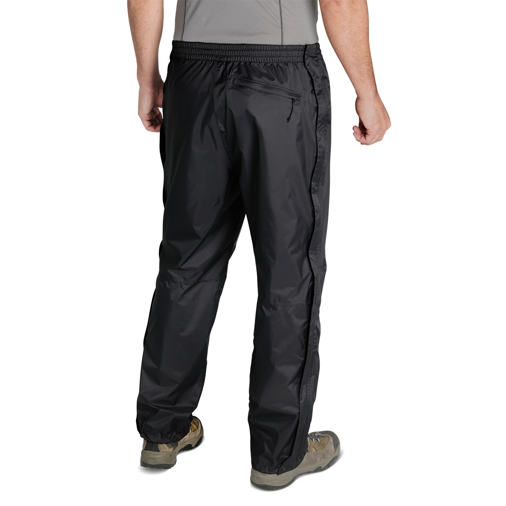 Гръб на мъжки хардшел панталон Outdoor Research Apollo Pants Black 2019