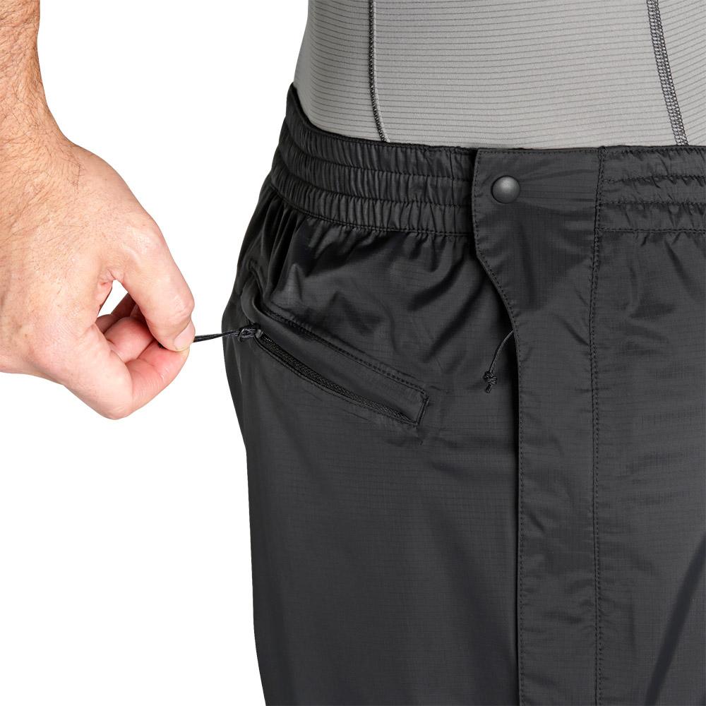 Страничен джоб с цип на мъжки хардшел панталон Outdoor Research Apollo Pants Black 2019