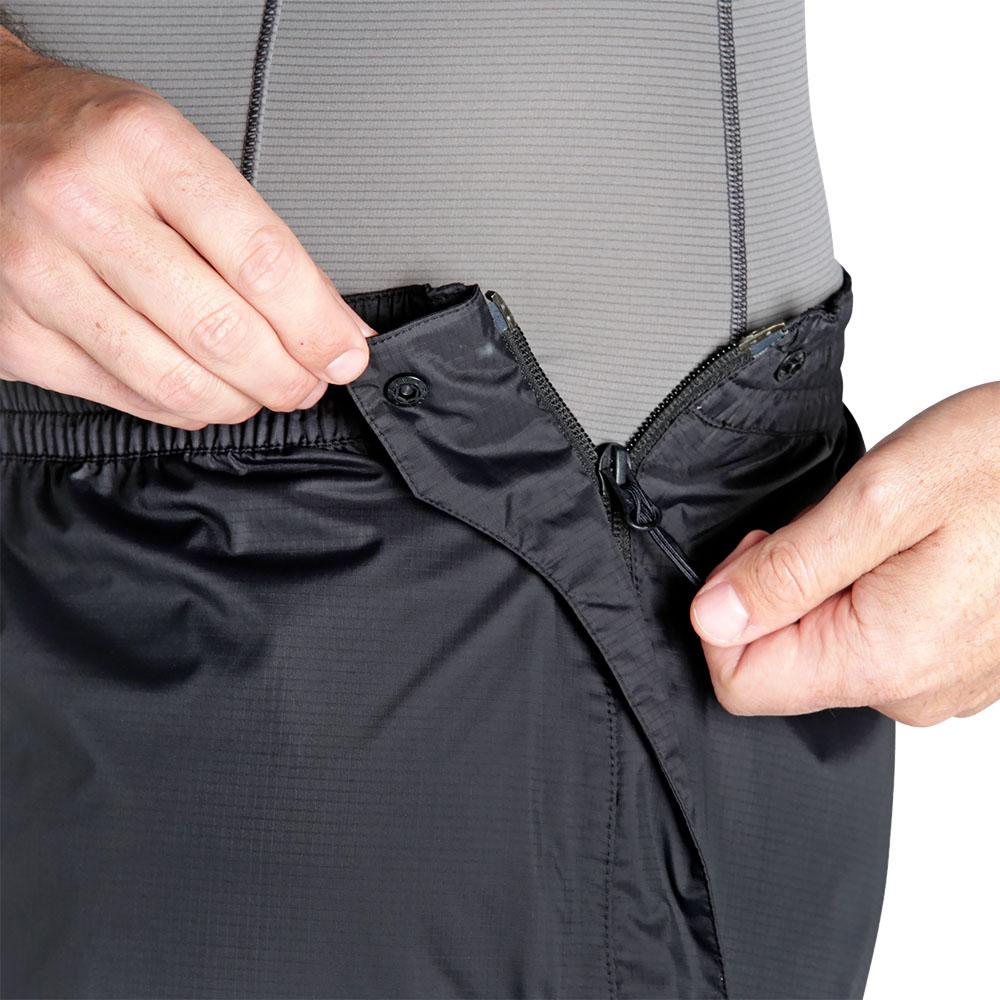 Разкопчаване на крачолите мъжки хардшел панталон Outdoor Research Apollo Pants Black 2019