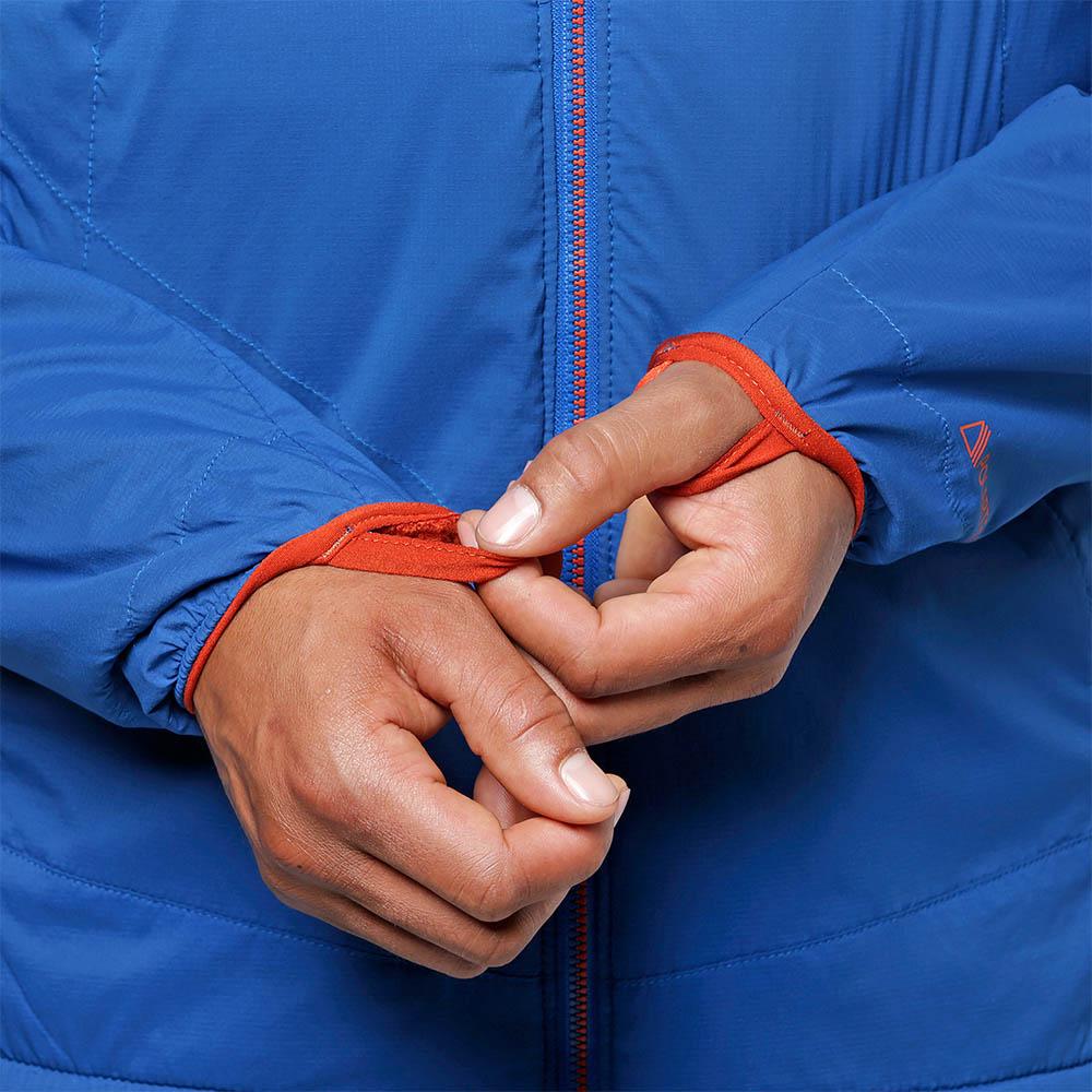 Еластични маншети на ръкавите софтшел яке Outdoor Research Ascendant Hoody Cobalt