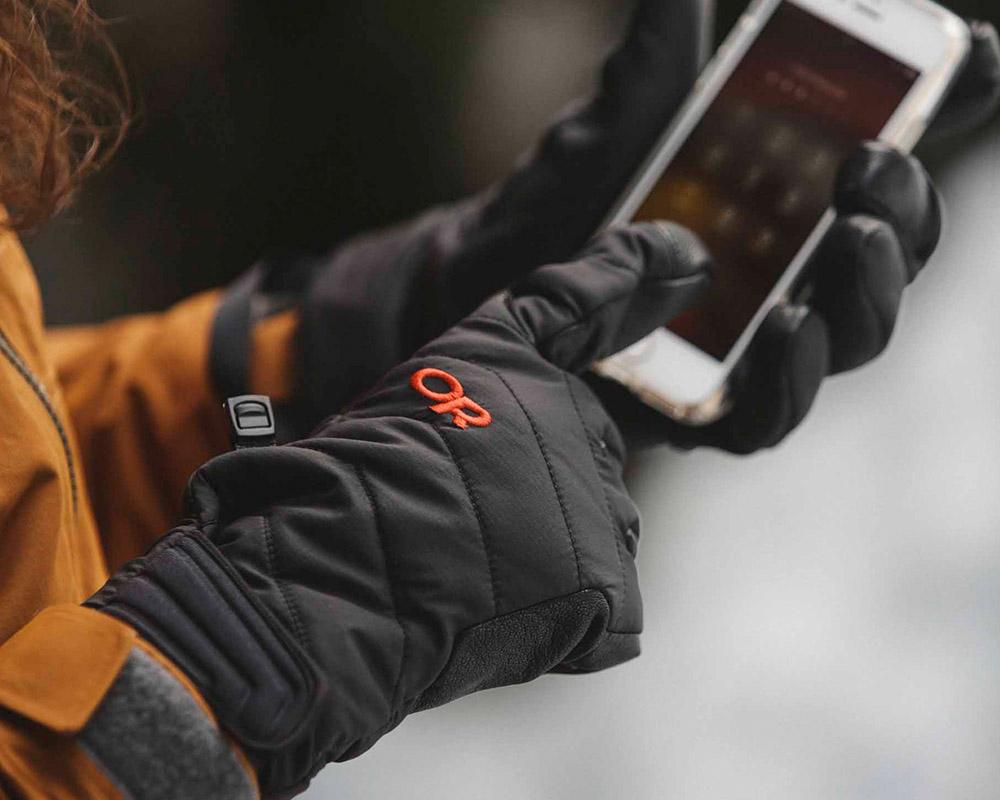 Функция тъчскрийн ръкавици за ски и алпинизъм Outdoor Research Ascendant Sensor Gloves Black