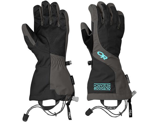 Дамски ръкавици за ски и алпинизъм Outdoor Research Arete Gloves Black Charcoal