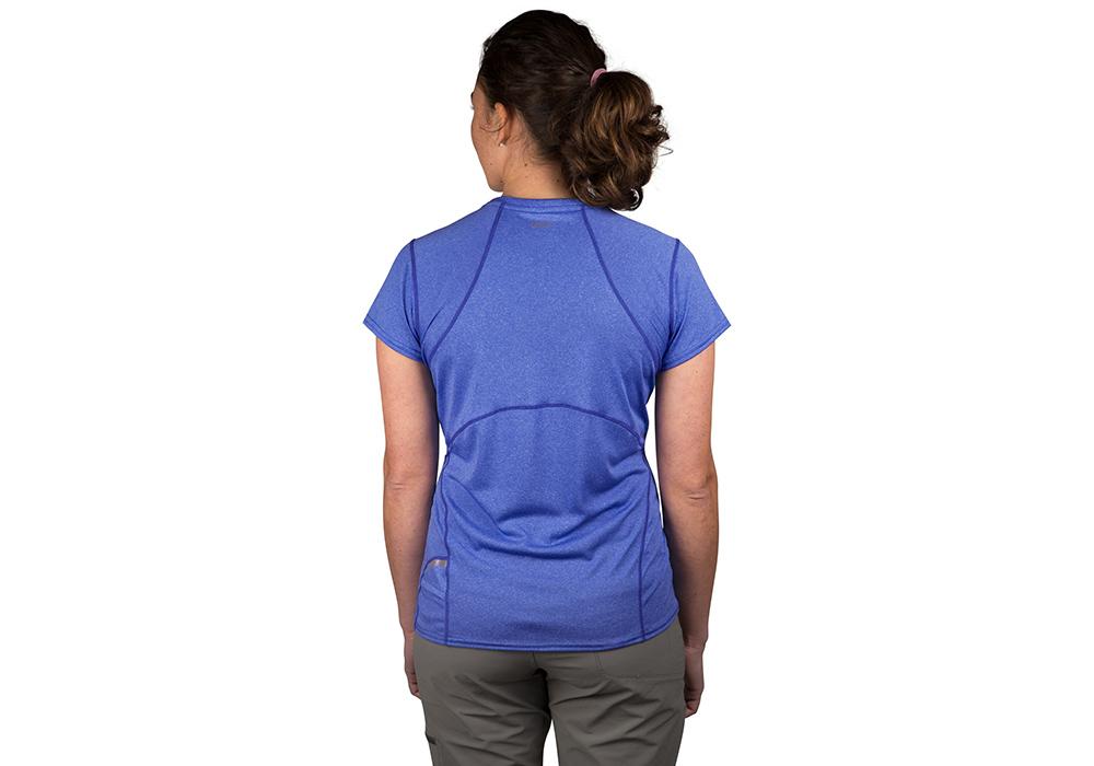 Гръб на дамска спортно-туристическа тениска Outdoor Research Ignitor SS Tee Batik