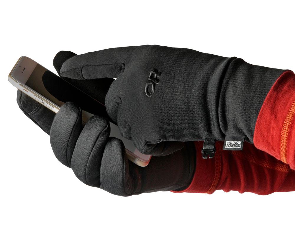 Touchscreen функция на ръкавици за туризъм и ежедневие Outdoor Research PL 400 Sensor Gloves 2019
