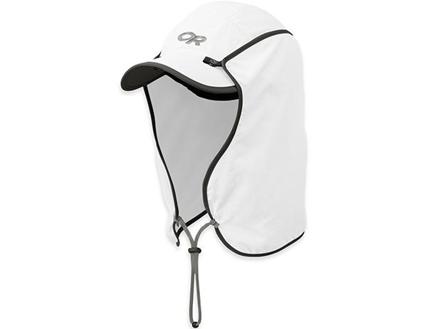Туристическа шапка с пустинен шал Outdoor Research Sun Runner Cap White