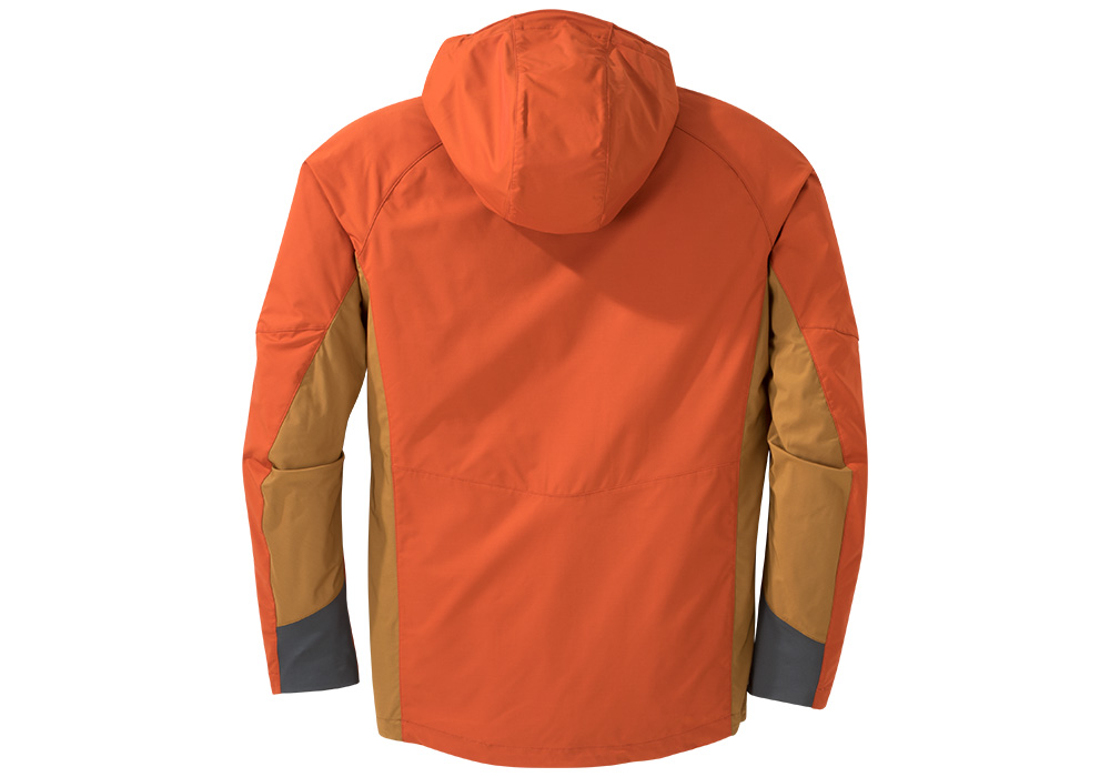 Гръб на мъжко софтшел яке Outdoor Research San Juan Burnt Orange