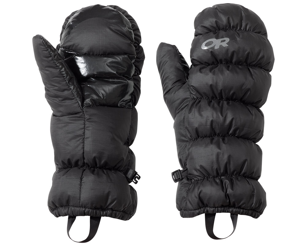 Пухени ръкавици лапи Outdoor Research Transcendent Mitts Black 2019