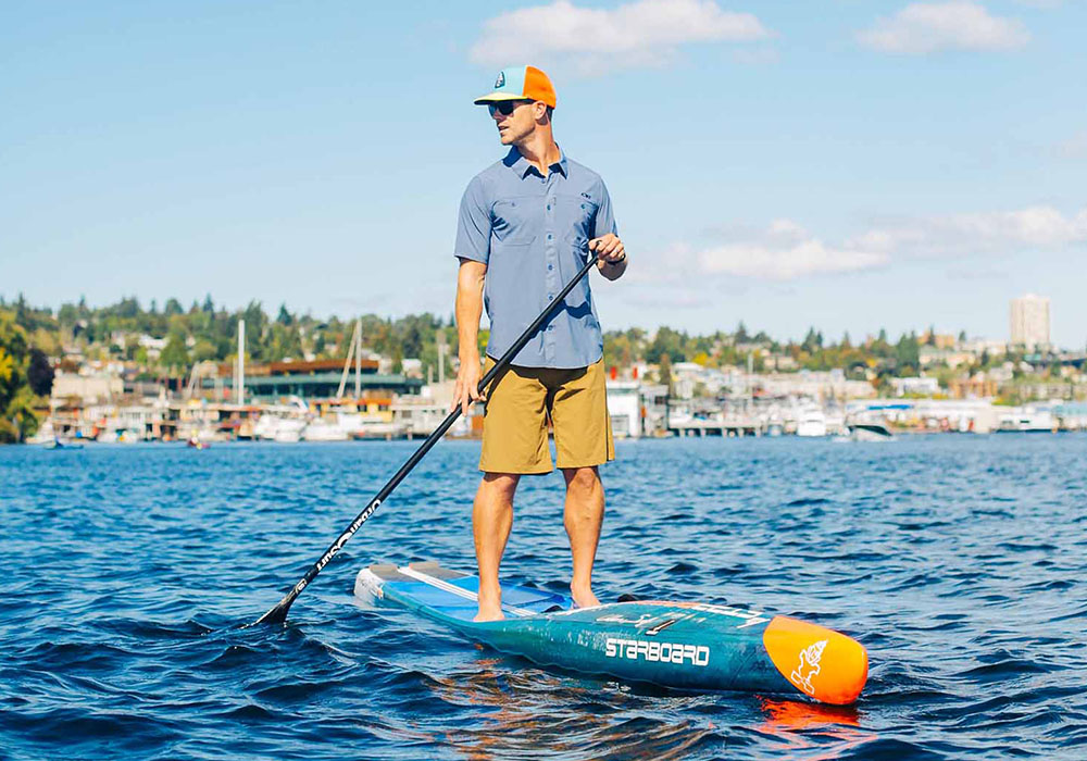 Paddle board шапка с козирка Outdoor Research Performance Trucker Go with the Flow Bahama