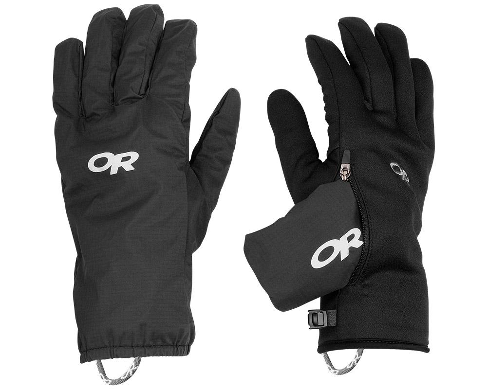 Топли поларени ръкавици с втори мембранни ръкавици за туризъм и ежедневие Outdoor Research Versaliners Black