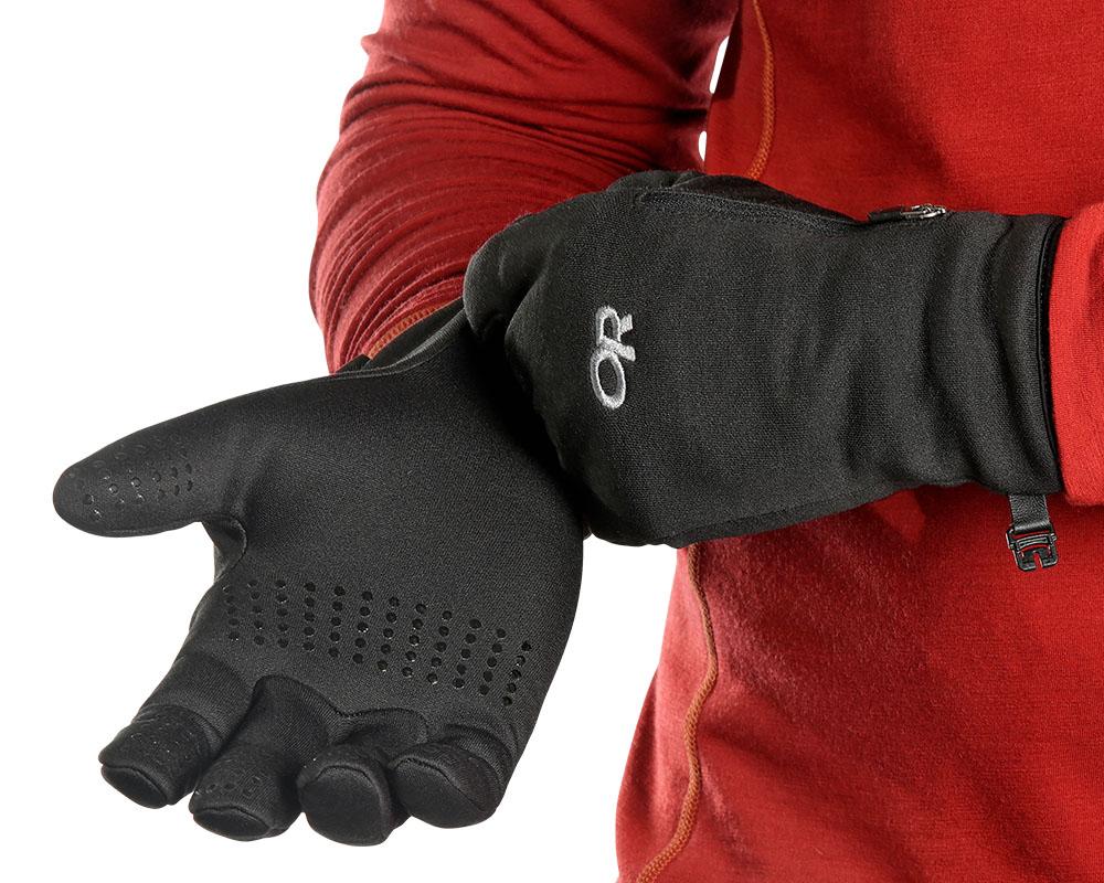 Обличане на ръкавици за туризъм и ежедневие Outdoor Research Versaliners Black