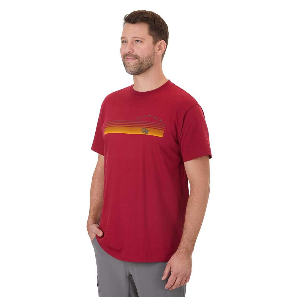 Лице на мъжка тениска Outdoor Research Ally Tee Retro Red 2020