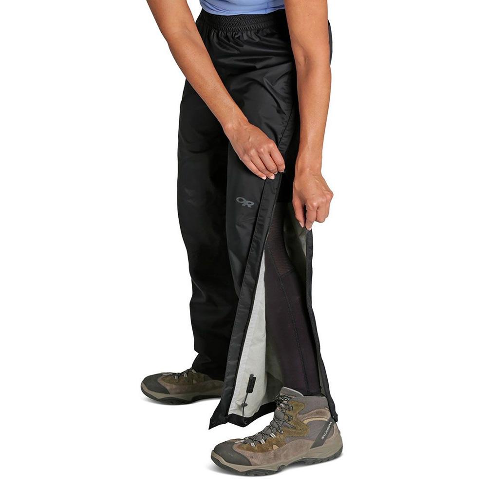 Отваряне отдолу дамски хардшел панталон Outdoor Research Apollo Rain Pants Black