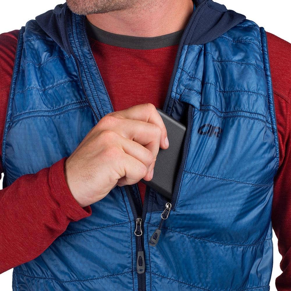 Страничен джоб на мъжки поларен елек с качулка Outdoor Research Deviator Hooded Vest