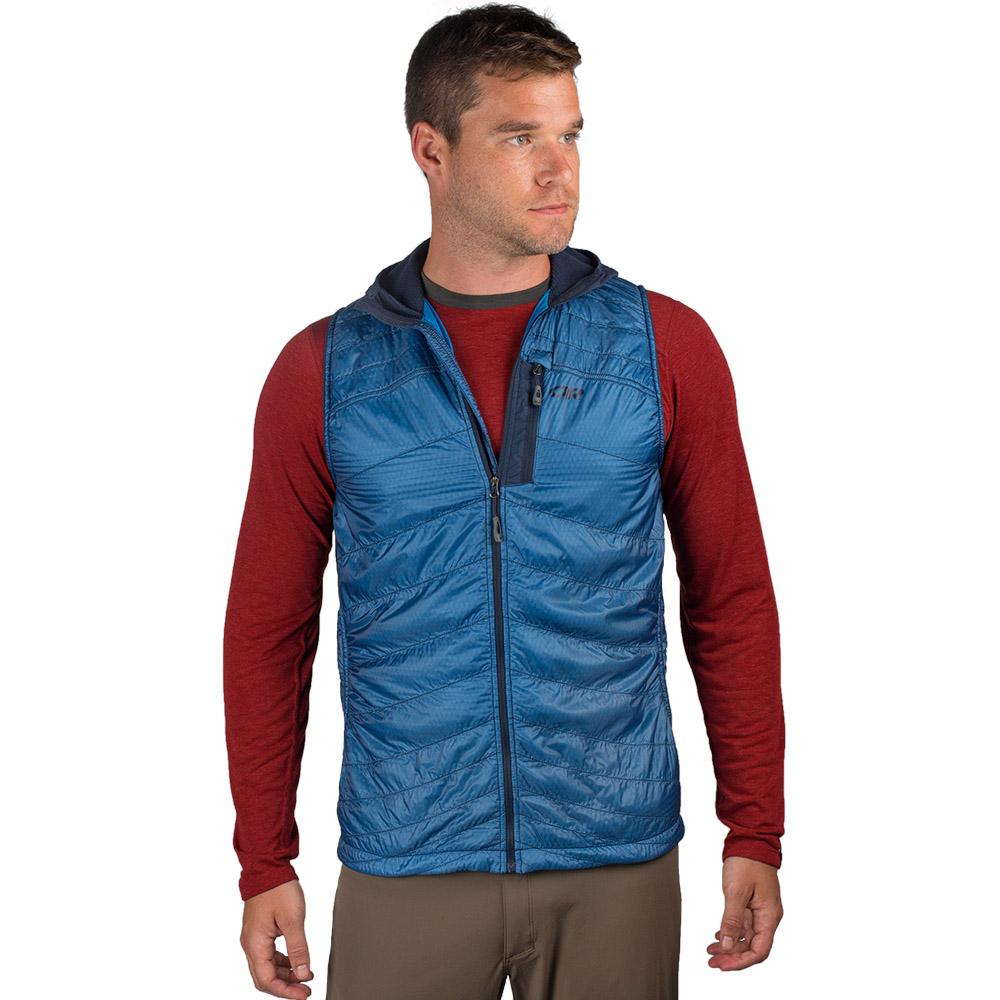 Лице на мъжки поларен елек с качулка Outdoor Research Deviator Hooded Vest