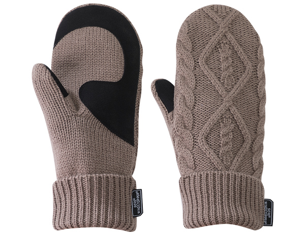 Дамски вълнени ръкавици лапи Outdoor Research Lodgeside Mitts Walnut Heather