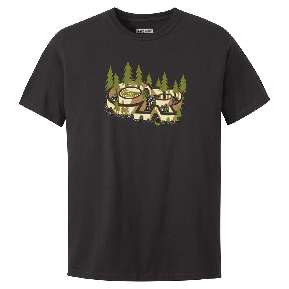 Мъжка тениска Outdoor Research Tree Fort Tee Black 2020