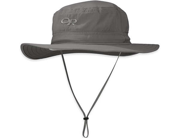 Туристическа шапка с периферия Outdoor Research Helios Sun Hat Pewter 2021