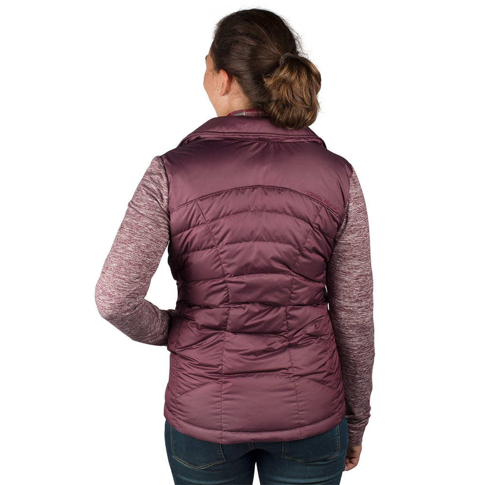 Гръб на дамско пухено хибридно яке Outdoor Research Plaza Down Jacket