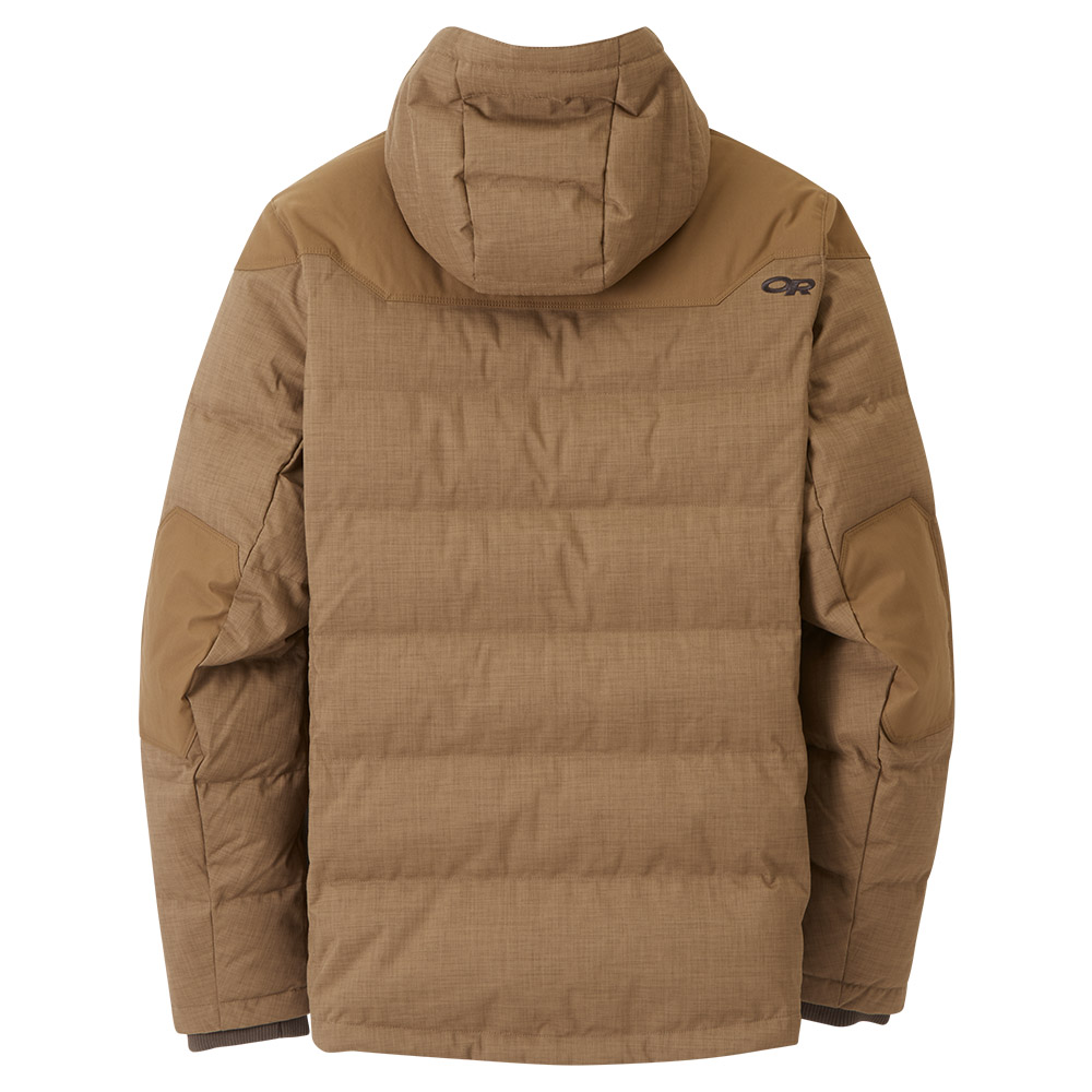Гръб на мъжко пухено яке Outdoor Research Whitefish Down Jacket Coyote 2020