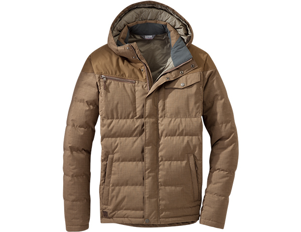 Мъжко пухено яке Outdoor Research Whitefish Down Jacket Coyote 2020