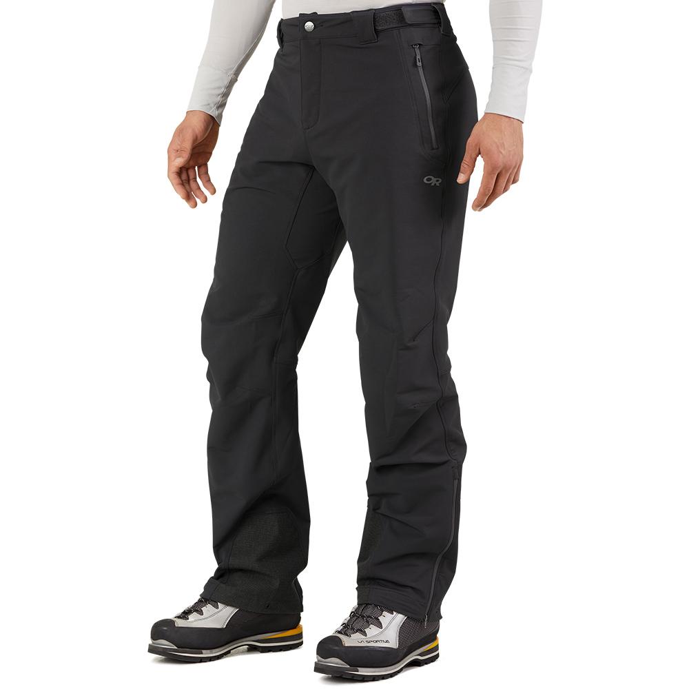 Лице на мъжки софтшел панталон Outdoor Research Cirque Pants II Black 2021
