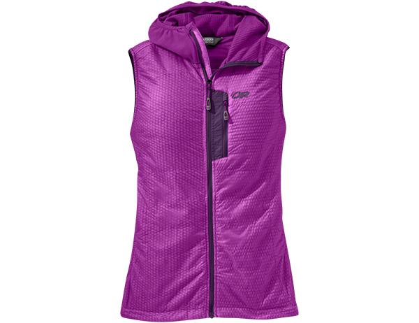 Outdoor Research Women's Deviator Hooded Vest Ultraviolet 2021