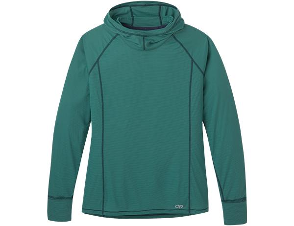 Дамска спортна блуза с дълъг ръкав Outdoor Research Echo Hoody Blue Spruce 2021