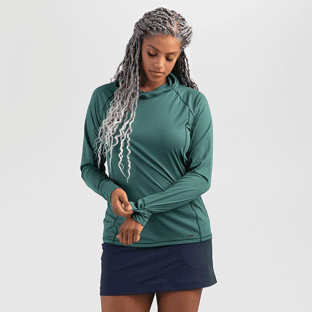 Дамска спортна блуза с дълъг ръкав и качулка Outdoor Research Echo Hoody Typhoon