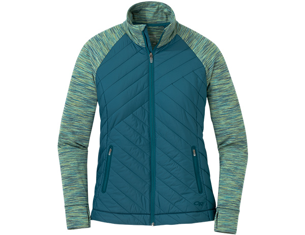 Outdoor Research Women's Melody Hybrid Full Zip Jacket Washed Peacock
