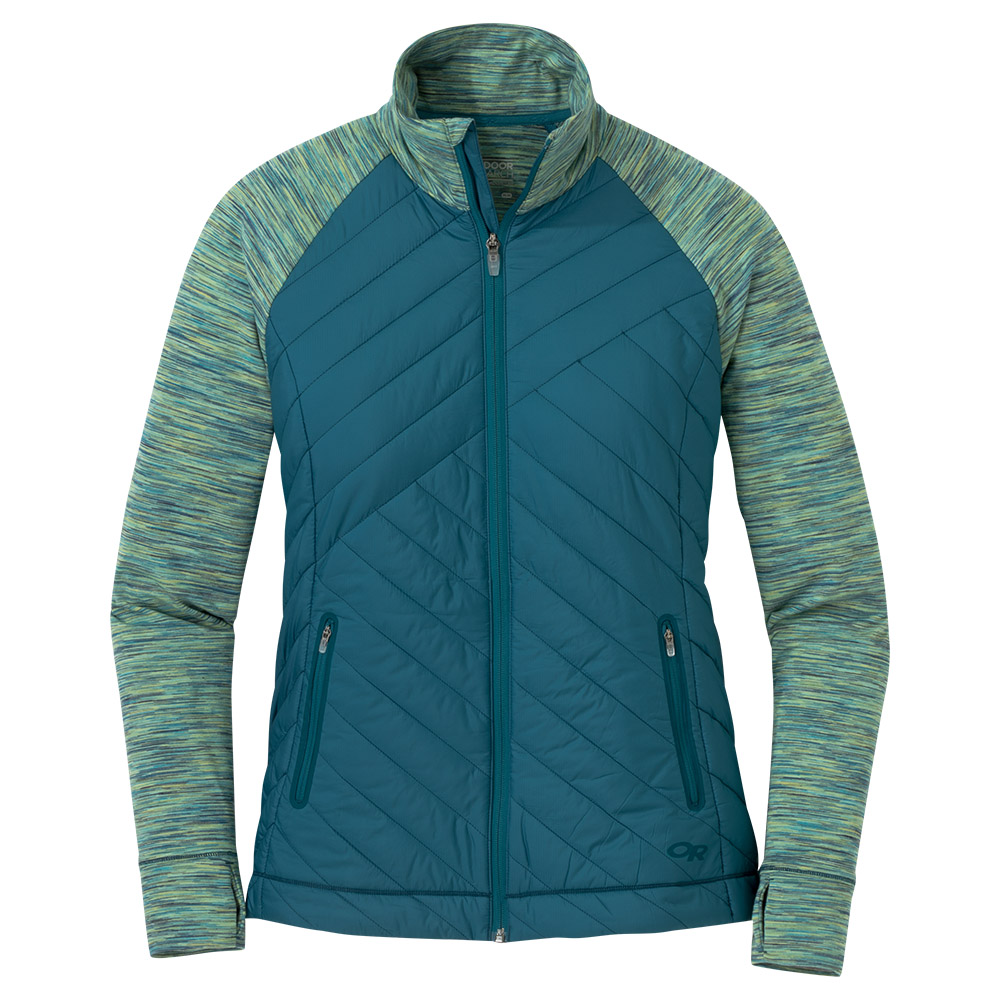 Outdoor Research Melody Hybrid Full Zip Washed Peacock