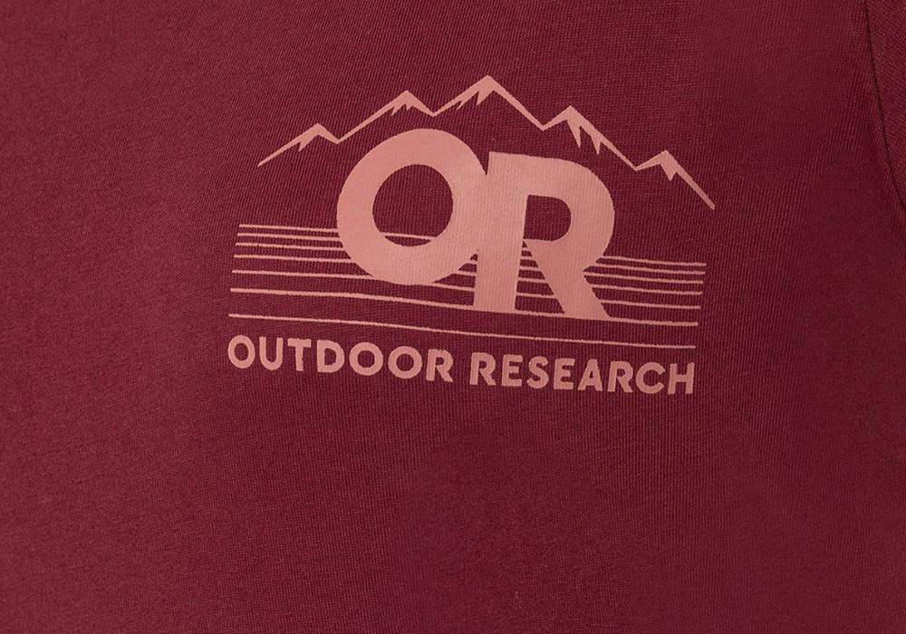 Дамска тениска Outdoor Research Advocate Tee Burgundy 2021
