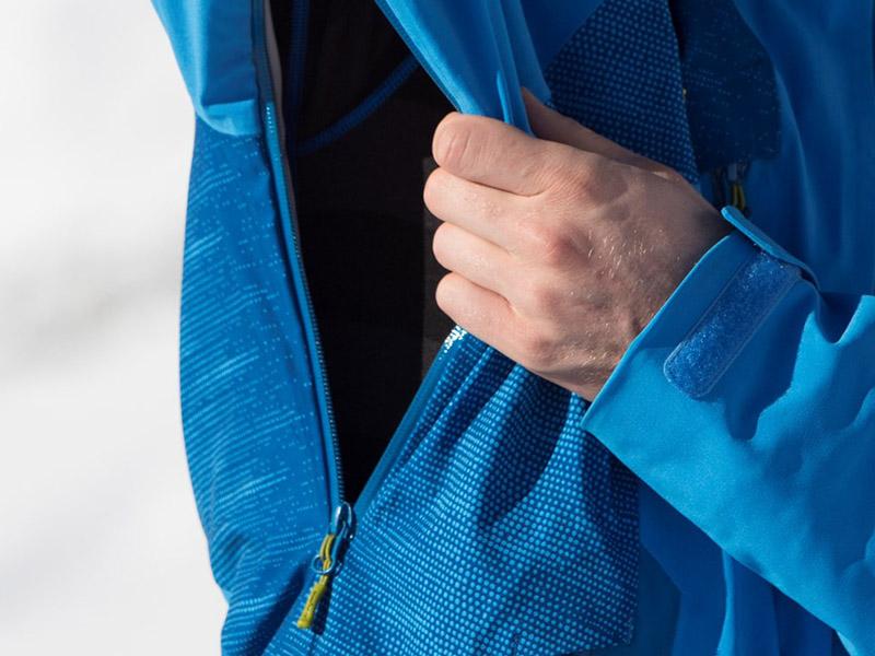 Дамско хардшел ски яке Bergans Oppdal Lady Jacket вентилация под мишниците