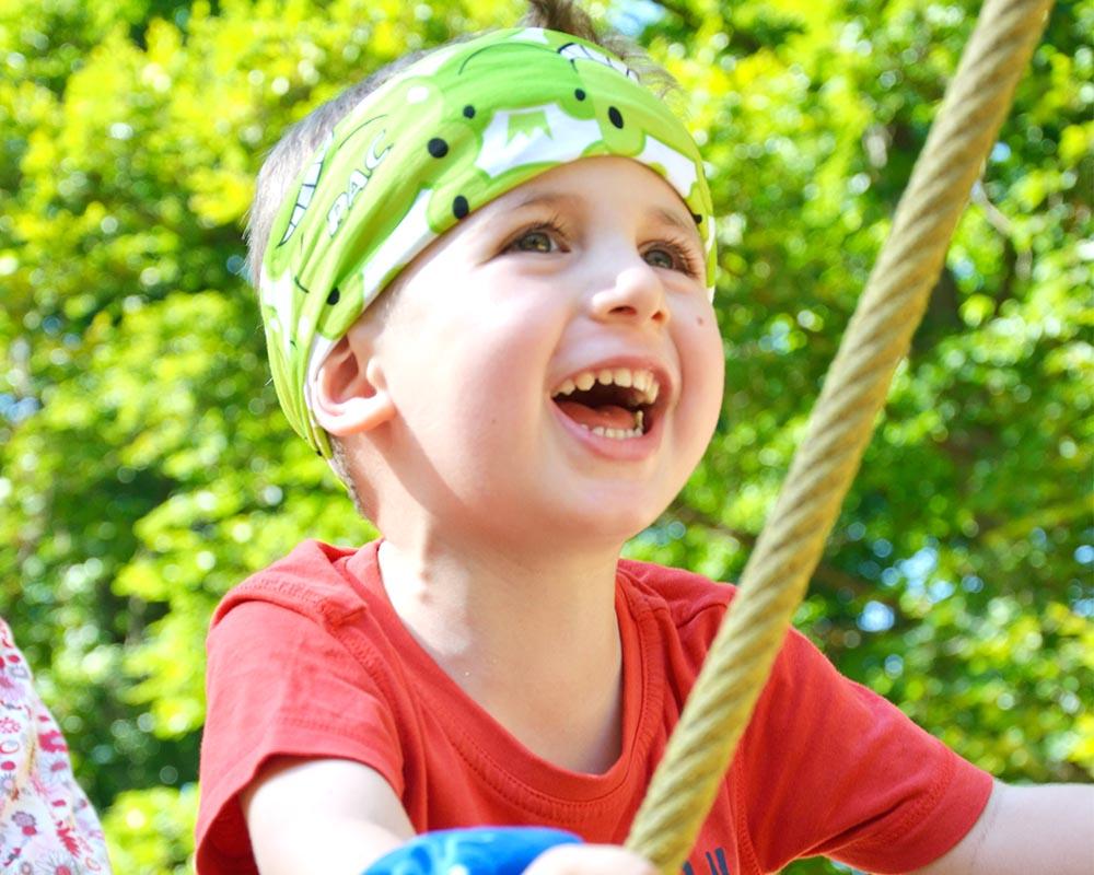 Многофункционална детска кърпа за глава PAC Kids Happy Frog дете на площадка
