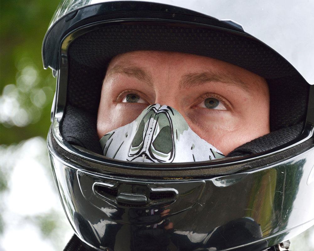 Ски маска за лице PAC MASK´Z Skull голяма снимка манекен моторист