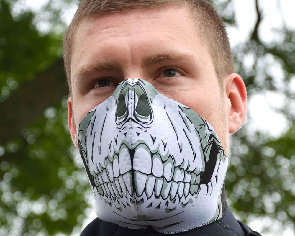 Ски маска за лице PAC MASK´Z Skull голяма снимка манекен