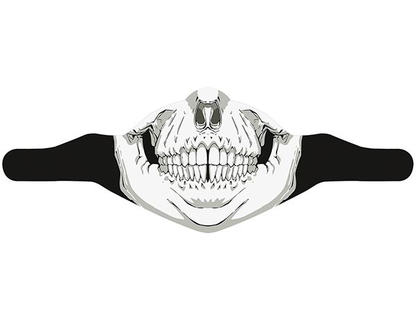 Ски маска за лице PAC MASK´Z Skull