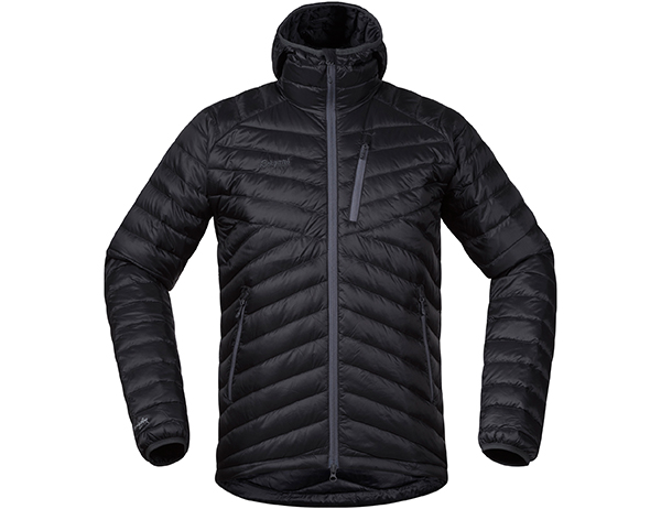 Мъжко пухено яке Bergans Slingsbytind Down Jacket w/Hood Dark Grey Модел 2018