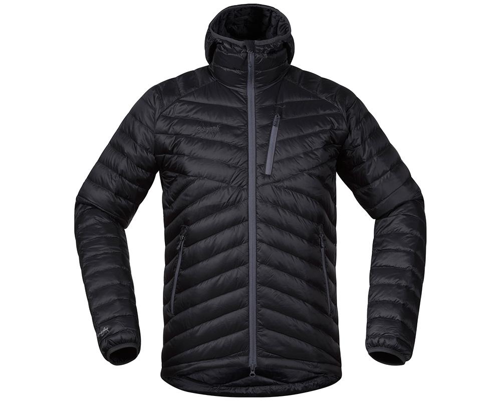 Мъжко пухено яке с качулка Bergans Slingsbytind Down Jacket w/Hood Dark Grey