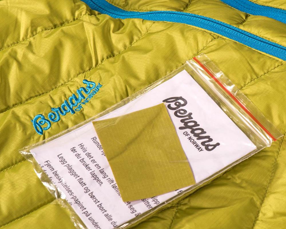 Комплект за поправка на дамско пухено яке с качулка Bergans Slingsbytind Down Lady Jacket