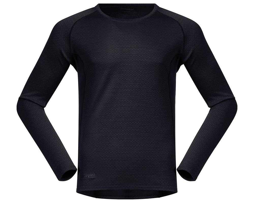 Мъжка термо блуза от мерино вълна Bergans Snøull Shirt Solid Charcoal Black 2019