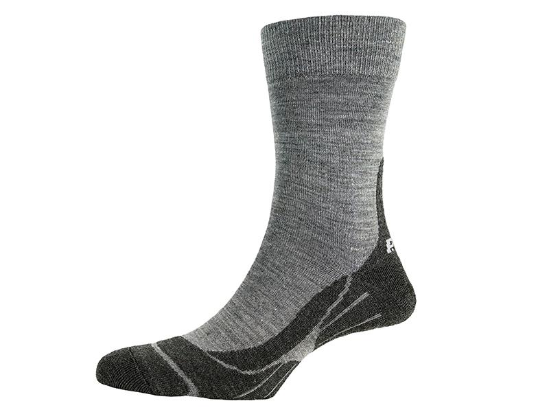 Дамски туристически чорапи PAC Trekking Light Women Grey