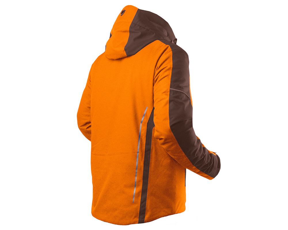 Гръб на Мъжко ски яке Trimm Antony Orange Dark Brown модел 2018