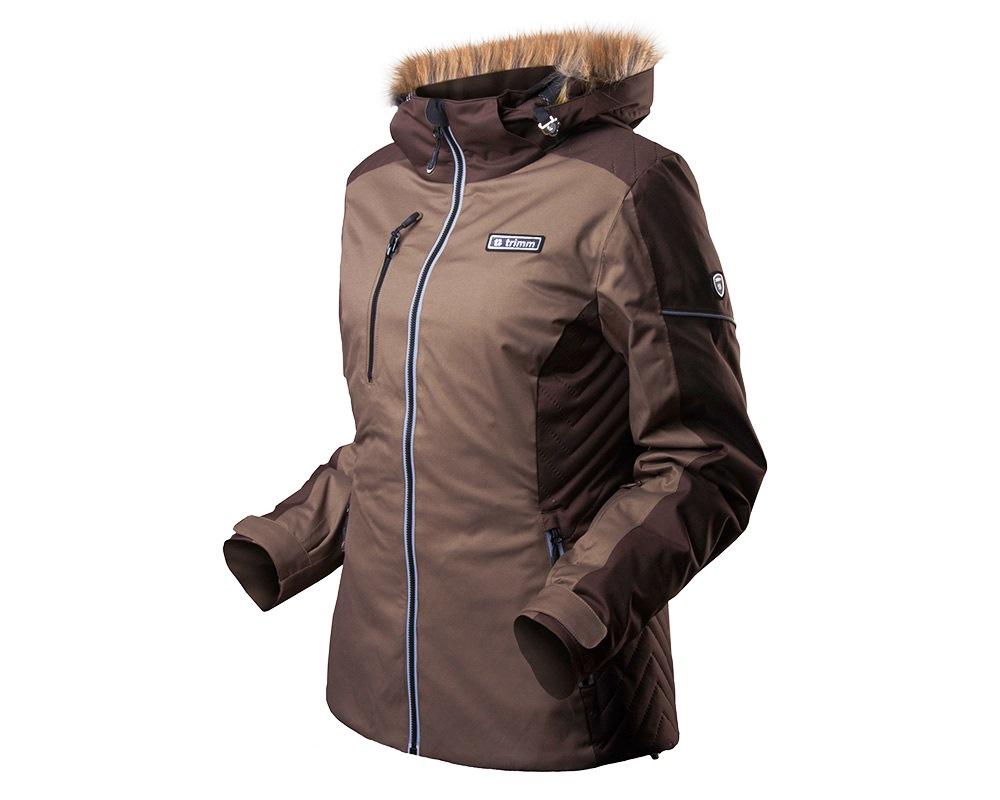 Дамско ски яке с мембрана и пълнеж Trimm Lucca Shitake Brown модел 2018