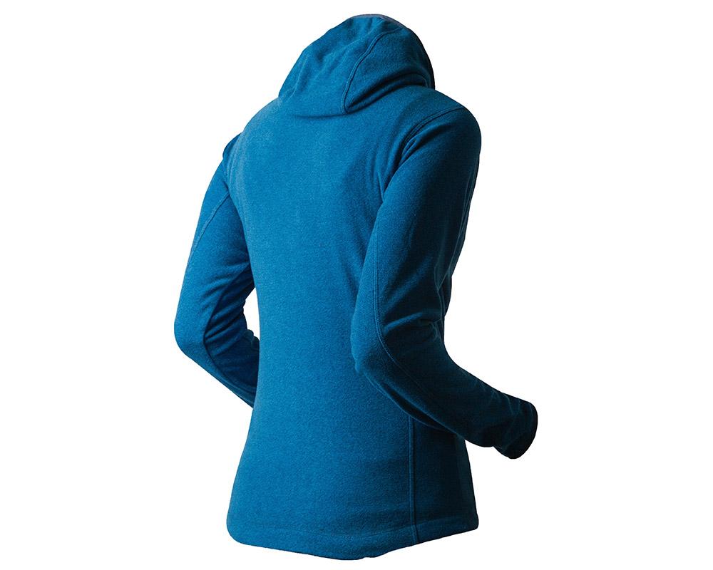 Гръб на дамско поларено яке Trimm Neona Blue Melange модел 2018