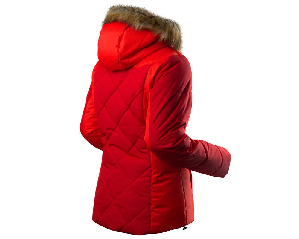 Гръб на дамско ски яке Trimm Regina Dark Red модел 2018