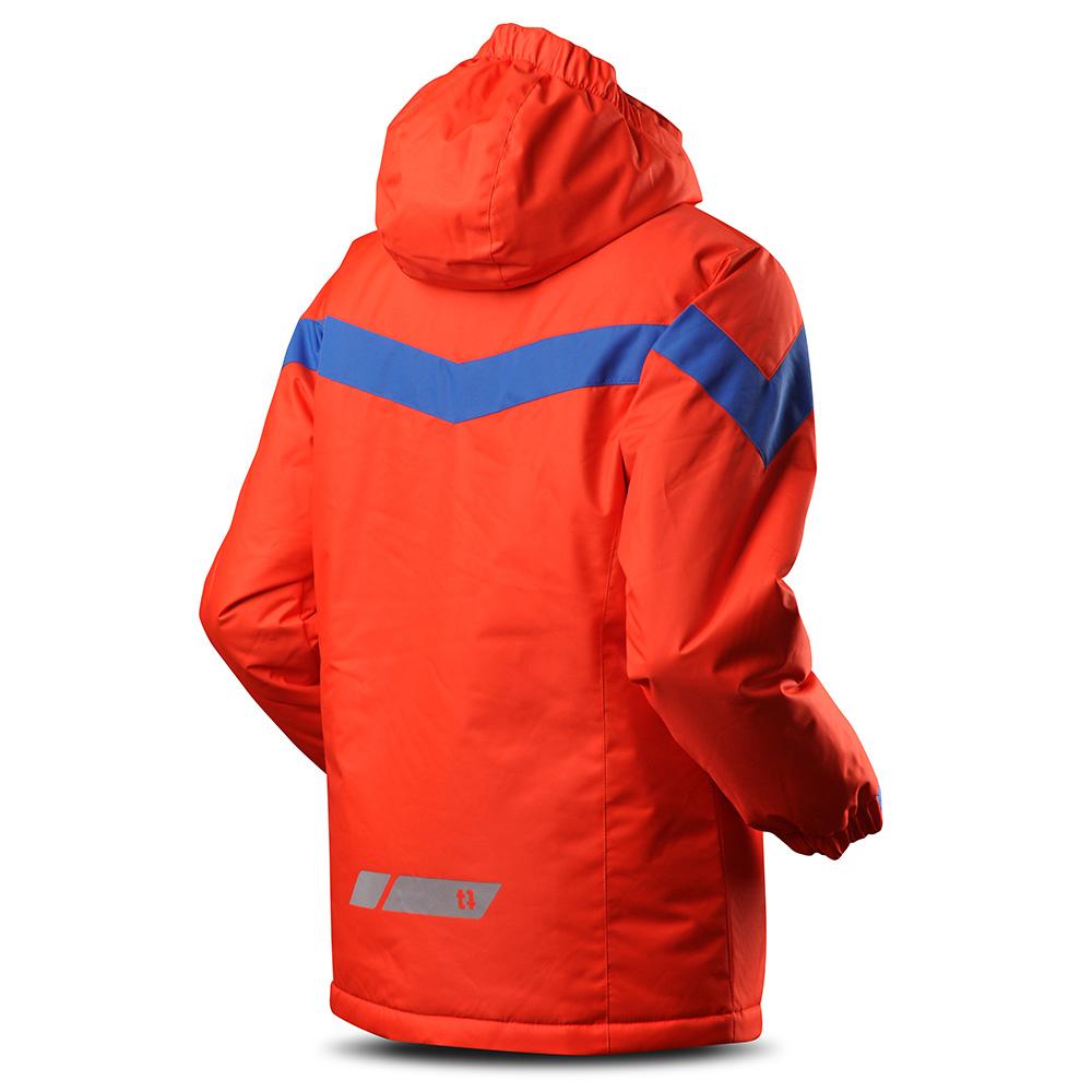 Гръб на детско яке за ски с изолация Trimm Sato Junior Signal Orange