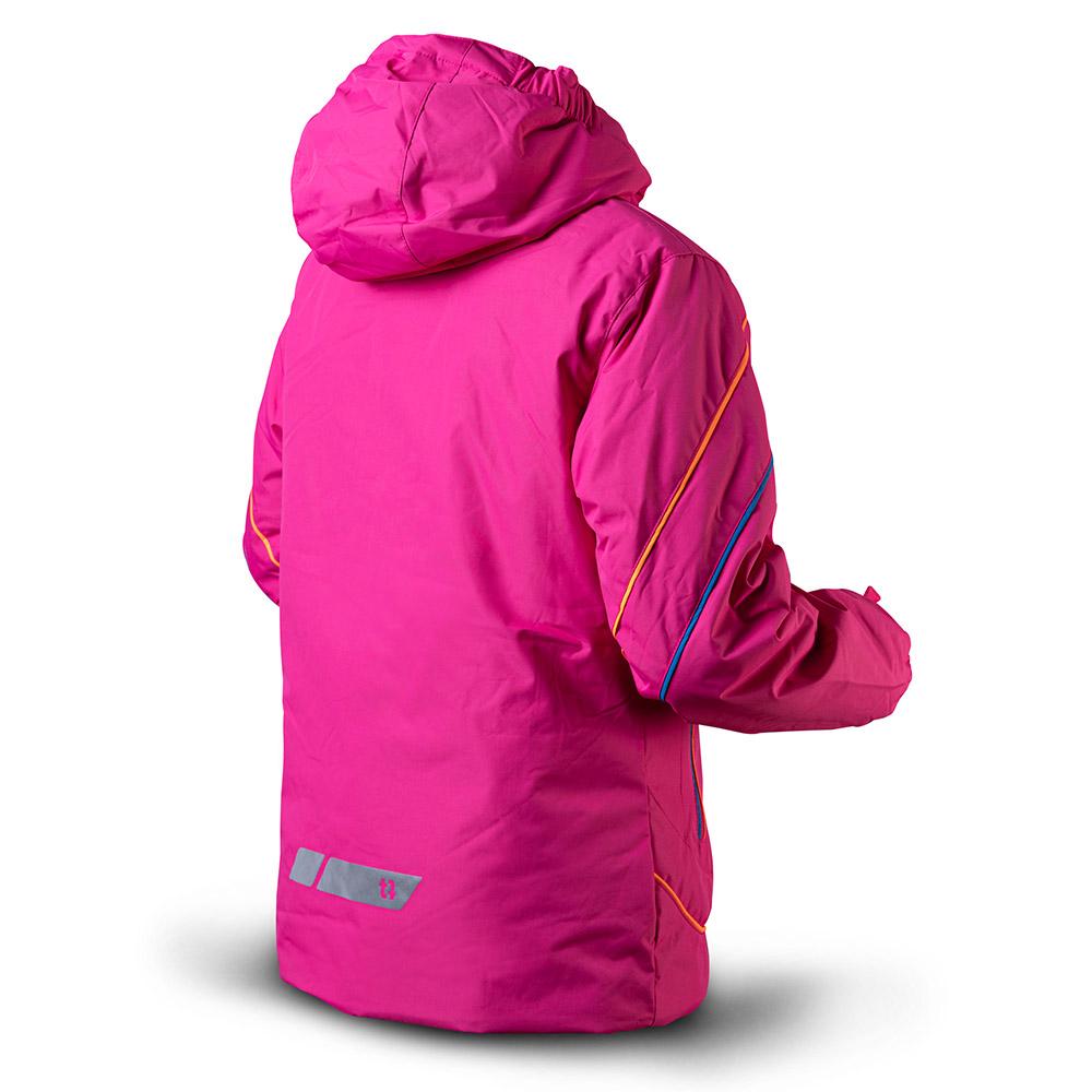 Гръб на детско яке за ски с изолация Trimm Rita Junior Pinky Stripes