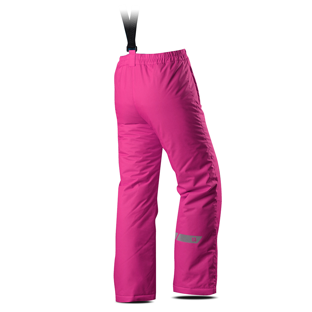 Гръб на детски панталон за ски с изолация Trimm Rita Pants Junior Pinky